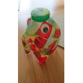 Elsie's home art project:What is Elmer made from?