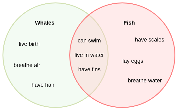An example of a Venn Diagram