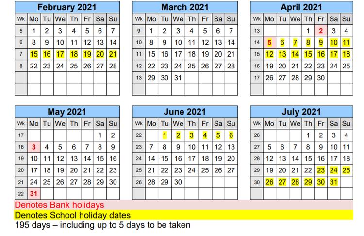 February 2021 - July 2021