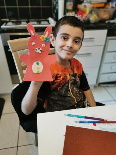 Hristo made a bunny.