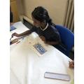 Trying out our Batik Motif art skills
