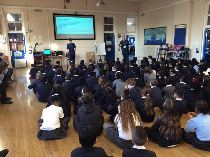 learning with The West Ham Foundation staff
