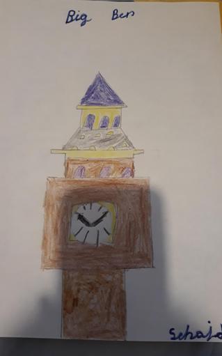 Sehajdeep has been drawing Big Ben