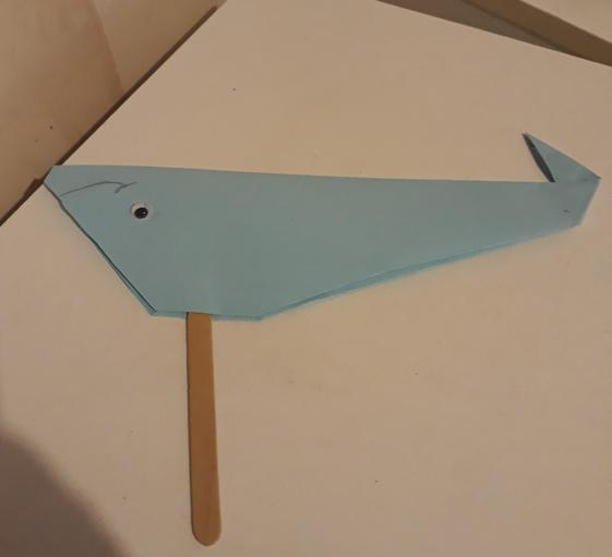 Sehajdeep made an Origami fish