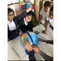 Using an atlas in Science to learn about rotation and light