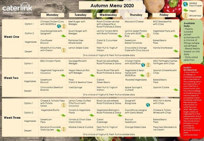 Autumn Menu 2020