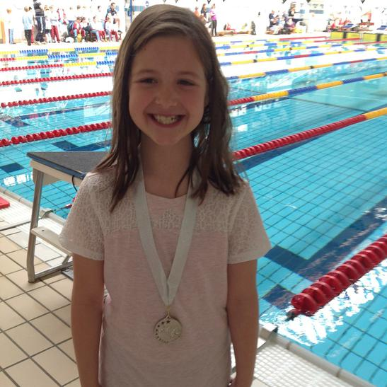 Emily won a silver medal for the 25m backstroke