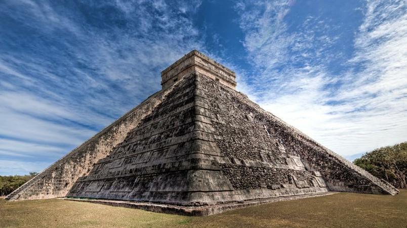 An ancient Mayan Temple.