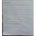 Aaris' maths work