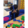 Measure with stickle bricks
