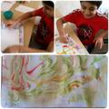 Aariz's marble foam paper