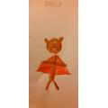 Raisa's super-hero bear.