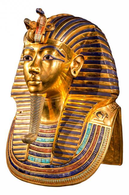 The famous death mask of King Tutankhamun