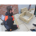 Doing DIY, making wooden garden planters to sell for enterprise.