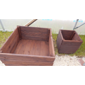 The finished planters