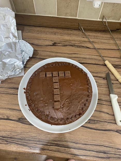 Baked a birthday cake for Tony.
