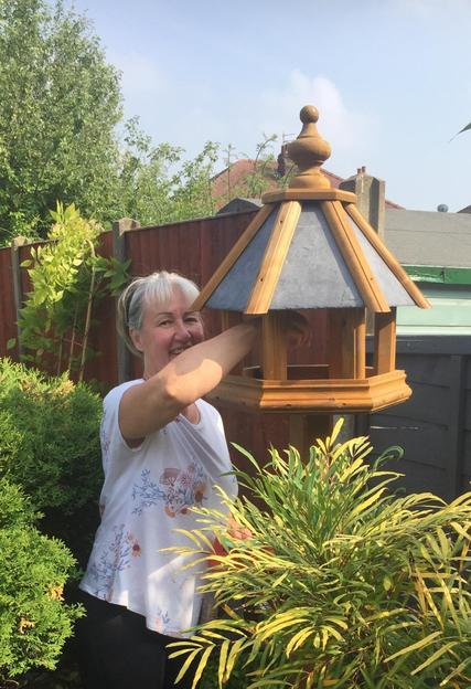 Feeding the birds.