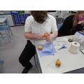 Creating a fruit pinata