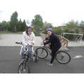 Bikes and trikes in P.E.