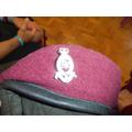 Ben's maroon beret.
