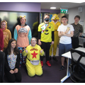 One of our Post-16 class, dressed up for Children in Need.