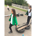 Completing the assault course