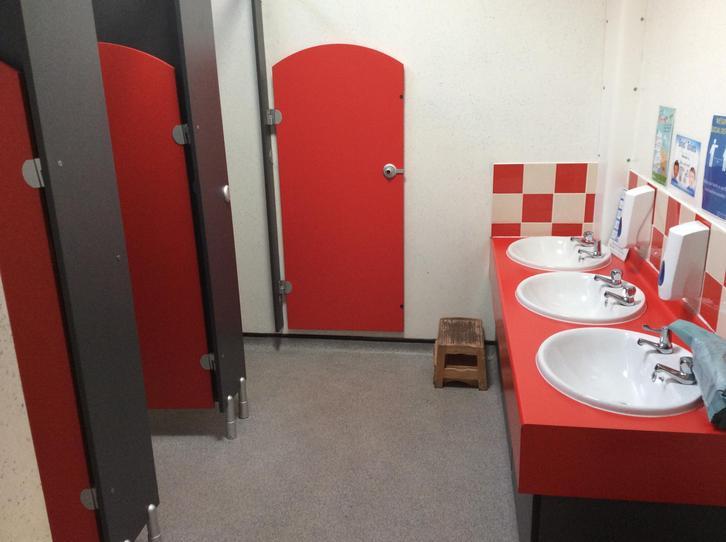 Reception class toilets