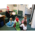 'The Cat in the Hat' read by 'a Cat in a Hat'!