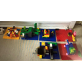 In Lego Club this week we made turtles here they are ! They are great !