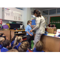 Role play - dressing up as the dentist.