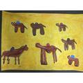 Seven cautious camels,