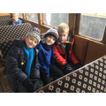 Relaxing on a steam train ride