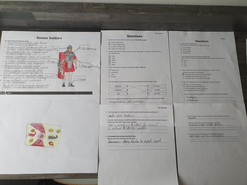 Chloe has been busy learning about Roman soldiers.