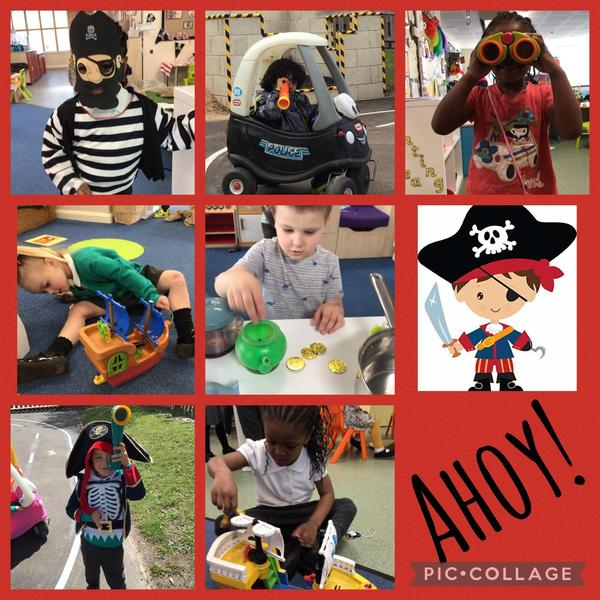 We have enjoyed pretending to be pirates over the last week!