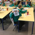 We enjoyed making dragon masks!
