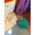 Finding the word she needs independently