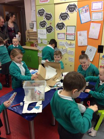 Making a house for the Gingerbread Man.