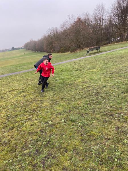 Jaxon enjoying some rugby