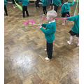 We loved dancing using ribbons and scarves.