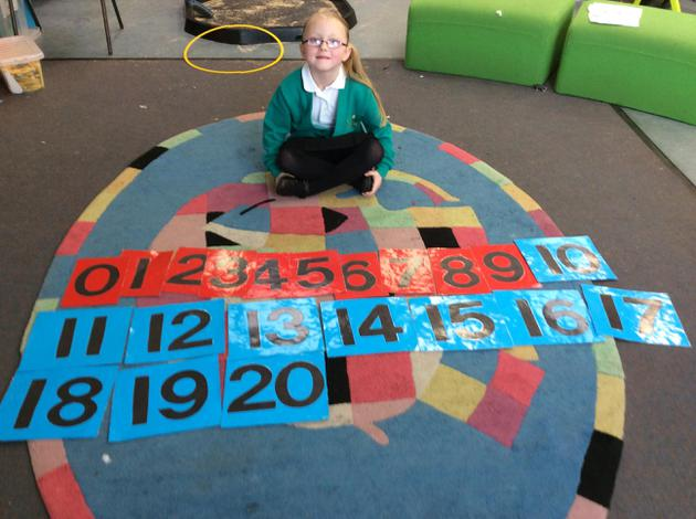 Sequencing numbers from 0-20.