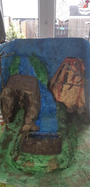 Larenzo's dinosaur enclosure.