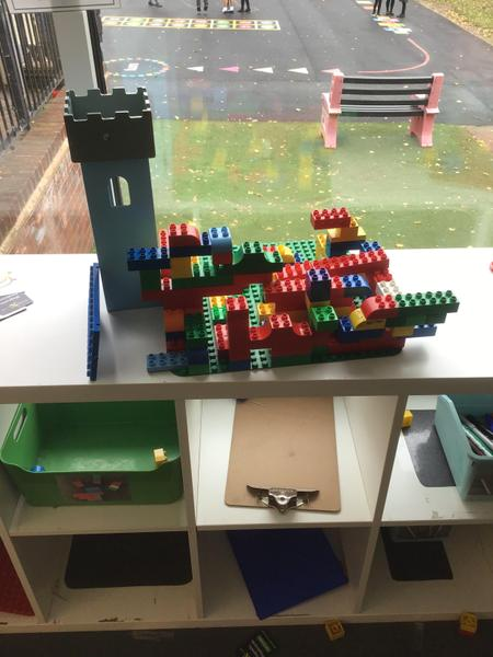 a Duplo and tower village