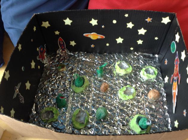 Imaginary worlds shoe box