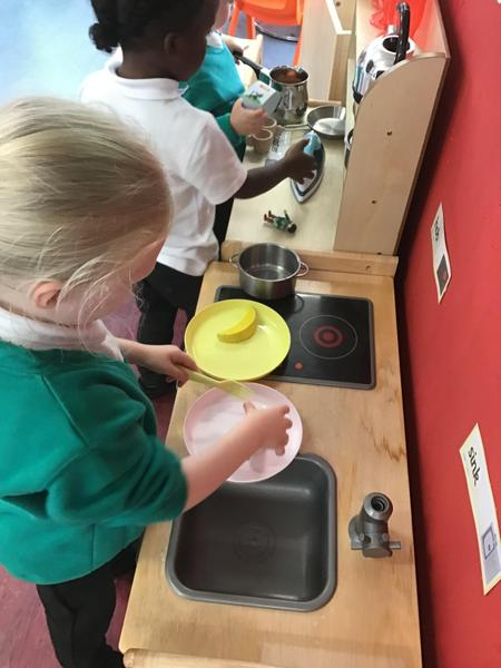 Role play in the kitchen.