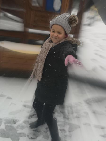 Lylah enjoying the snow!