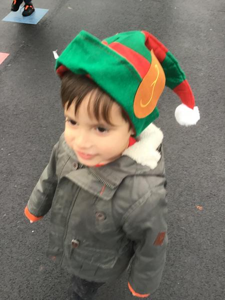 Super elf hats to help with our elf walk!