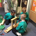 Collaboration to make a habitat for the Dinosaur