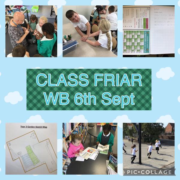 Week Beginning 6th September in Class Friar