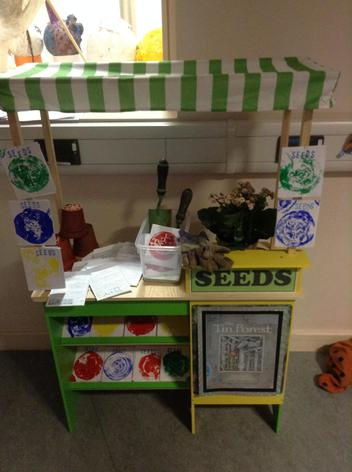 We made and printed our own seed packets