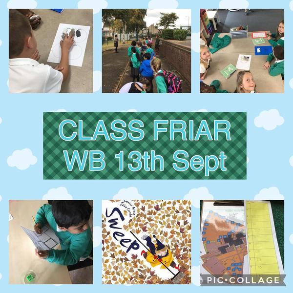 Week Beginning 13th September in Class Friar